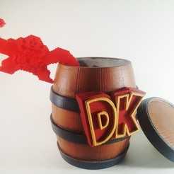 STL file Kong's in a Barrel, Dame-out-of-Time