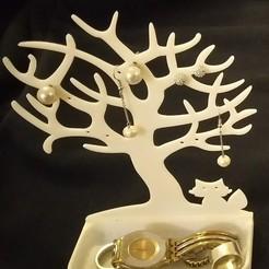 Download 3D printer designs jewellery holder cat tree tree, jpi066