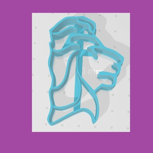 Download 3D printing files Cookie cutter or plasticine lion, lucasperez956