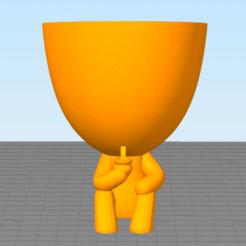 Download 3D printer model ROBERT MATT VASO DA DISCORDIA MATT sitting v2, lucasperez956