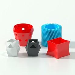 Télécharger fichier STL Cinq vases décoratifs imprimables en 3D • Design à imprimer en 3D, kristian_5555