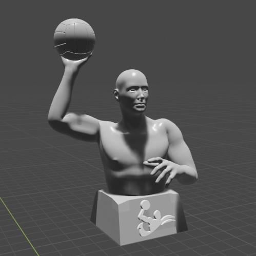 0.jpg Télécharger fichier STL gratuit Joueur de water-polo • Objet pour imprimante 3D, Feri2143