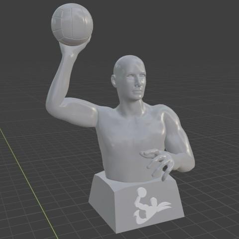 1.jpg Télécharger fichier STL gratuit Joueur de water-polo • Objet pour imprimante 3D, Feri2143