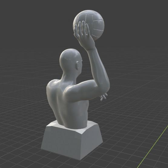 3.jpg Télécharger fichier STL gratuit Joueur de water-polo • Objet pour imprimante 3D, Feri2143