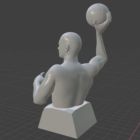 2.jpg Télécharger fichier STL gratuit Joueur de water-polo • Objet pour imprimante 3D, Feri2143