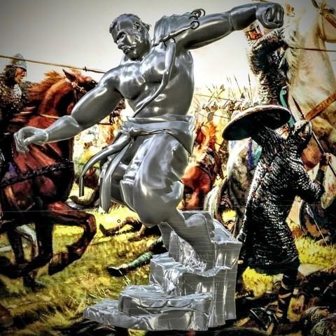 3D print files Viking warrior, Feri2143