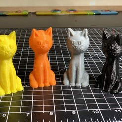 4cats.jpg Download free GCODE file Sitting Cat Toy • 3D printable object, gafnorin