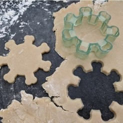 Download free 3D printing files covid19 cookie cutter, Cookiemonster