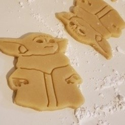 Download free 3D printing models Baby Yoda Cookie Cutter, Cookiemonster