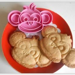 Download free 3D printer templates Cookies cutter Monkey boy, Cookiemonster