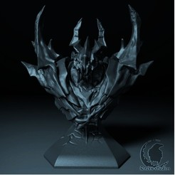 Download 3D printing models SHADOW FIEND BUST DOTA 2, raven-studios