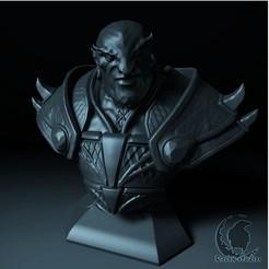5.jpg Download STL file EMBER SPIRIT BUST DOTA 2 • 3D print template, raven-studios