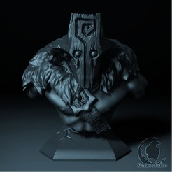 27.jpg Download STL file JUGGERNAUT BUST DOTA 2 • Model to 3D print, raven-studios