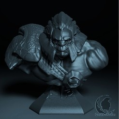 Download 3D printer model AXE BUST DOTA 2, raven-studios