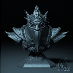 3D printer models BOUNTY HUNTER BUST DOTA 2, raven-studios