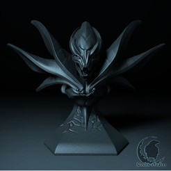 22.jpg Download STL file SPECTRE BUST DOTA 2 • Template to 3D print, raven-studios
