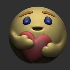1em.jpg Download OBJ file Emoticon... I care... • Template to 3D print, Awakeningmadarts