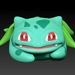1.jpg Download OBJ file Bolbasaur flower or brush holder • 3D printing object, Awakeningmadarts