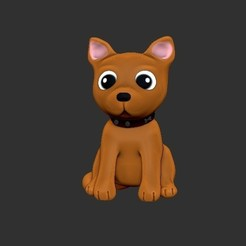 Download 3D printing designs Dog chibi, Awakeningmadarts