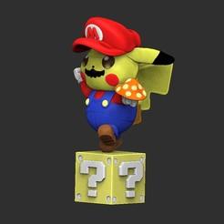 Télécharger plan imprimante 3D pikachu mario, porte-clés ou figure, Awakeningmadarts