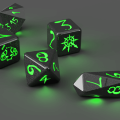 dice v82.png Download free STL file Gift of Chaos Blood bowl dice • 3D printable object, Pipboy57