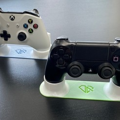 7- PS4 and XBox Controller Stands.jpg Download STL file PS4 and Xbox Controller Stands • 3D printable design, Almas_Robotics