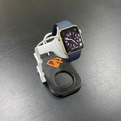 2- Universal smart watch stand.jpg Download STL file Universal smart watch stand • 3D printable template, Almas_Robotics