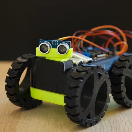 Download 3D printing files M Second - Robot Car, AlmasRobotics