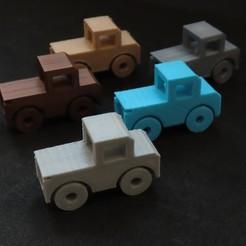 Modèle 3D Camion-cadeau d'argent, AlmasRobotics