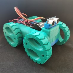3D printing files M Second - Robot Car, AlmasRobotics