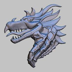 DR3.png Download STL file Dragon 3d Relief STL file • 3D print model, nounousky