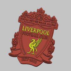 Download 3D model Liverpool logo club football, nounousky