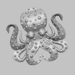 1.png Télécharger fichier STL octopus poulpe 3D  • Plan pour imprimante 3D, nounousky
