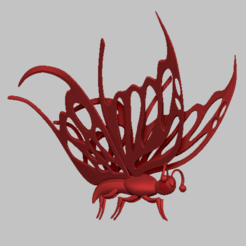 ba3.png Download STL file Butterfly simple 3D STL file • 3D printing object, nounousky
