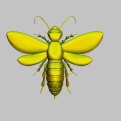 3.png Télécharger fichier STL abeille,fichier bee stl • Modèle à imprimer en 3D, nounousky