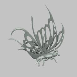 ba4.png Télécharger fichier STL Butterfly simple 3D STL file • Design pour imprimante 3D, nounousky