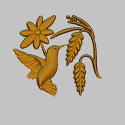 bf2.png Download STL file Bird, single bird STL file • 3D print object, nounousky