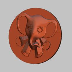 2.png Télécharger fichier STL Elephant simple  relief 3D STL file • Objet pour impression 3D, nounousky