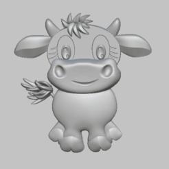 VACHE1.png Télécharger fichier STL Cow, vache STL file • Objet à imprimer en 3D, nounousky