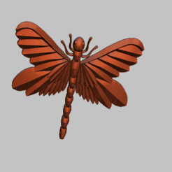 Download 3D printer designs Dragonfly 3d Relief STL file, nounousky