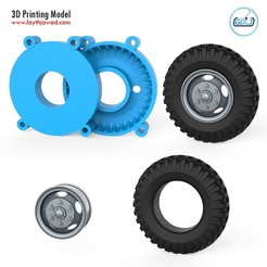 01.jpg Download STL file Truck Tire Mold With Wheel • 3D printing model, LaythJawad