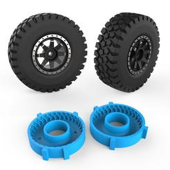 000.jpg Download STL file Rough Terrain Tire Mold • 3D printable object, LaythJawad