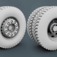 Download STL file Wheels Truck - Back and Front, LaythJawad