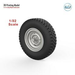 000 (1).jpg Download STL file Vehicle wheels 1/32 • 3D printable template, LaythJawad