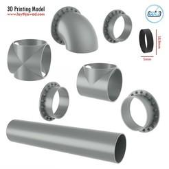01.jpg Télécharger fichier STL Assemblage de tuyaux d'égout • Modèle à imprimer en 3D, LaythJawad