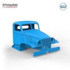 01.jpg Télécharger fichier STL GMC CCKW 352 Cabine • Plan à imprimer en 3D, LaythJawad