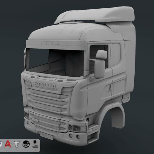 Descargar archivo 3D Cabina Scania R730 V8, LaythJawad