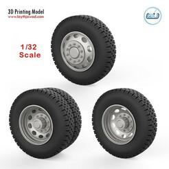 000 (1).jpg Download STL file Truck wheels 1/32 • 3D print template, LaythJawad