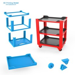 00.jpg Download 3DS file Workshop Tool Trolley • 3D printer design, LaythJawad