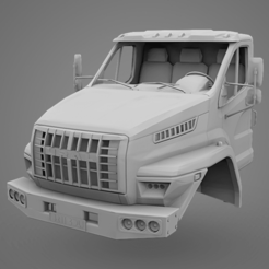 Download 3D printing models GAZ Ural Next Cabin, LaythJawad